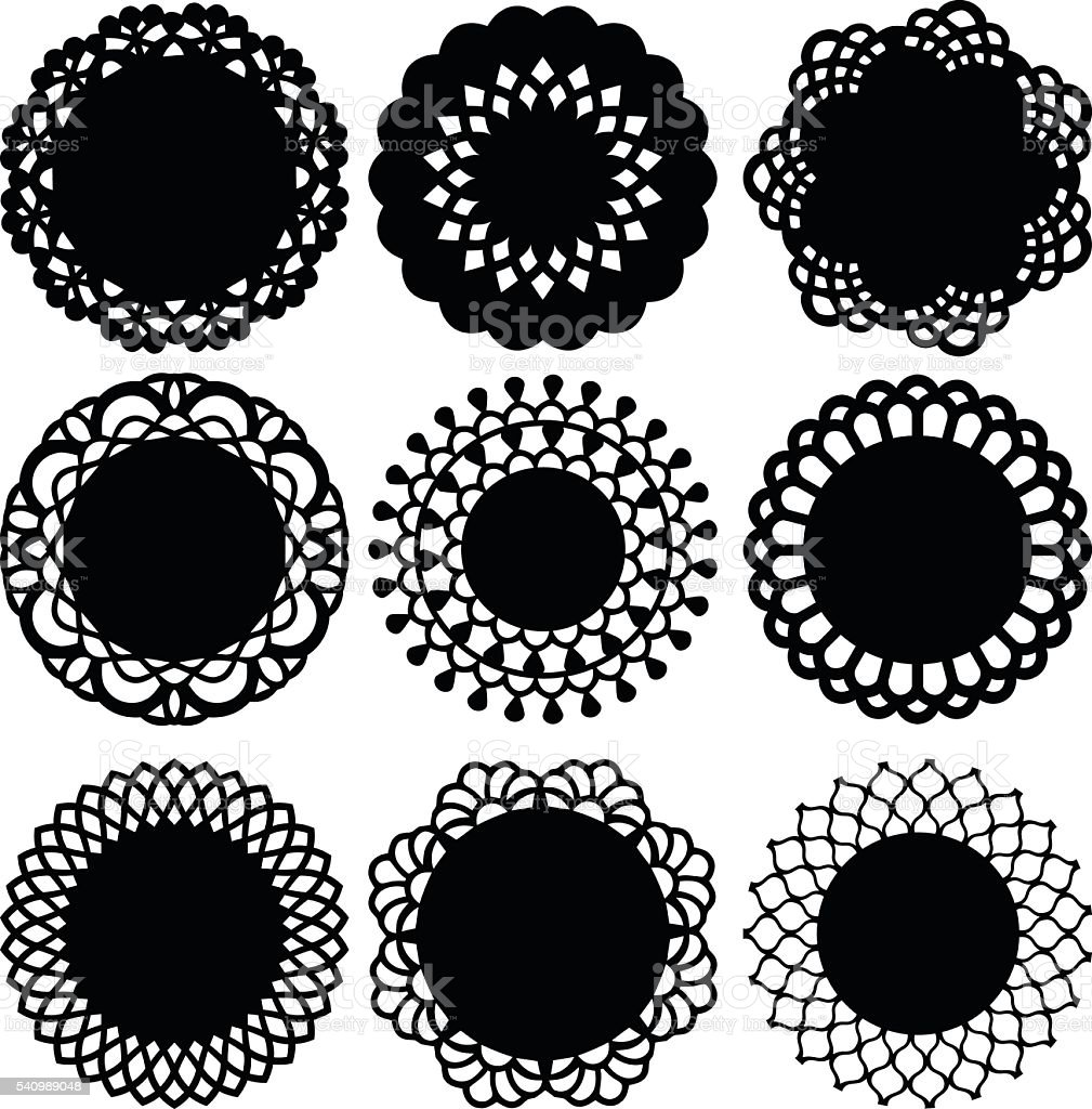 Doily Lace Decoration vector art illustration