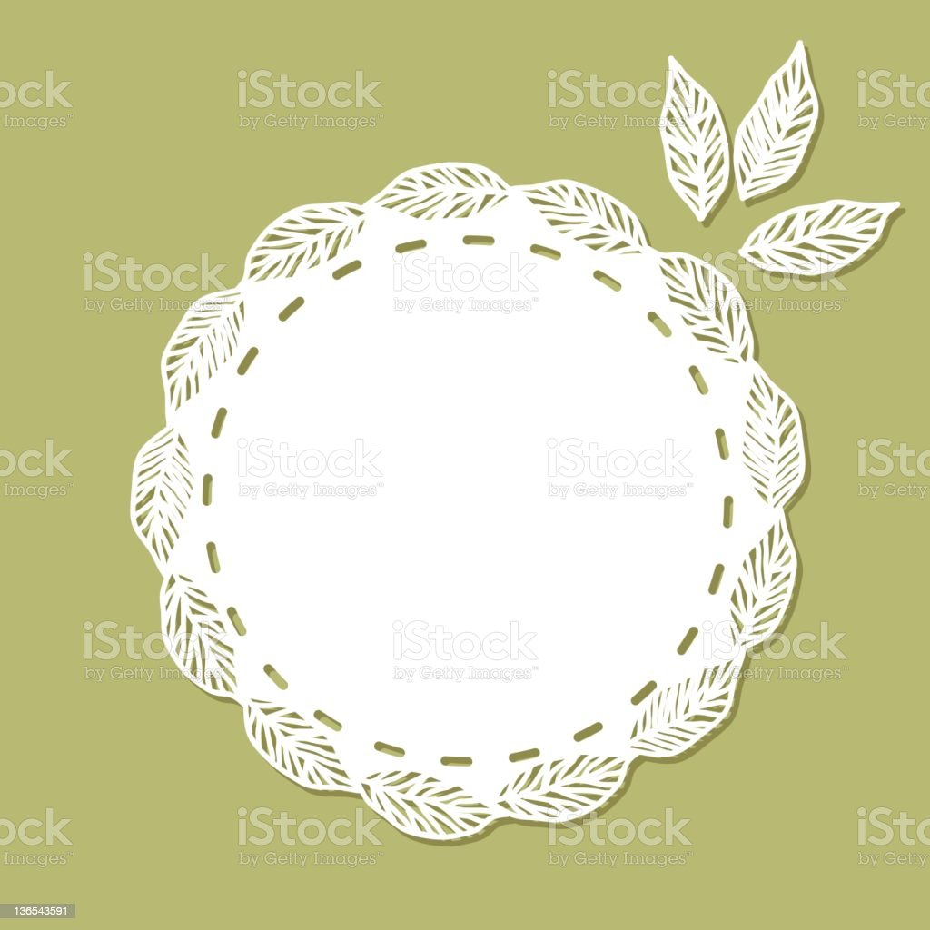 Doily - Leaf royalty-free stock vector art