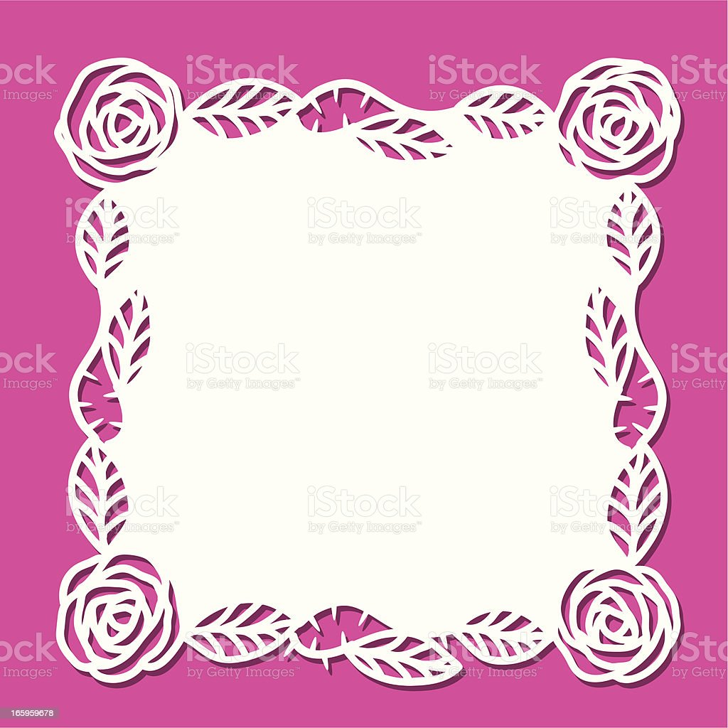 Doily - rose (square) royalty-free stock vector art