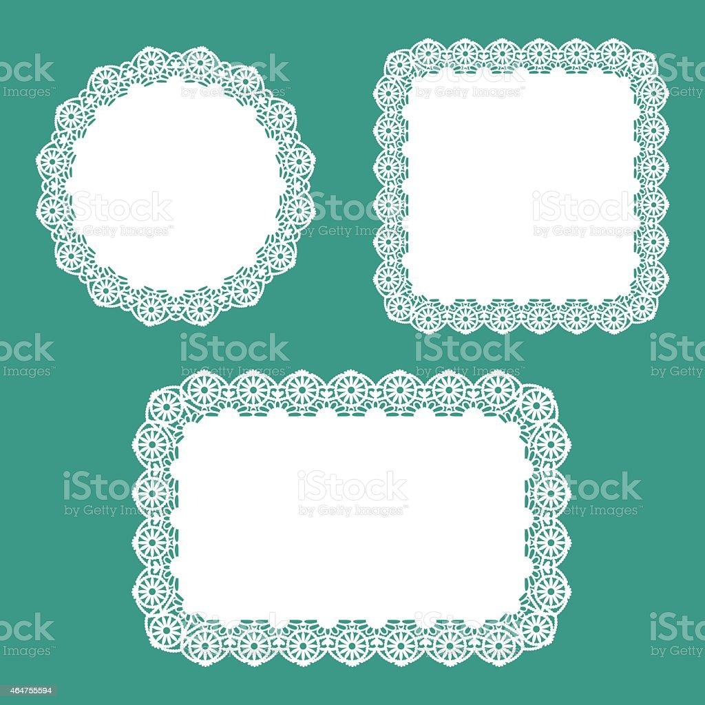 Doily Set vector art illustration