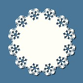 Vector illustration of doily for winter. EPS8, AI10, high res jpeg included.