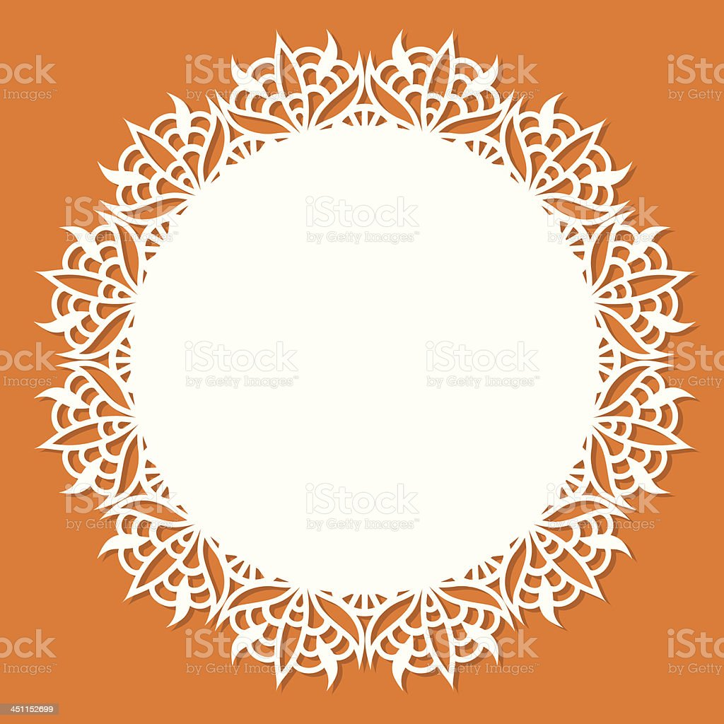 Doily with copy space vector art illustration