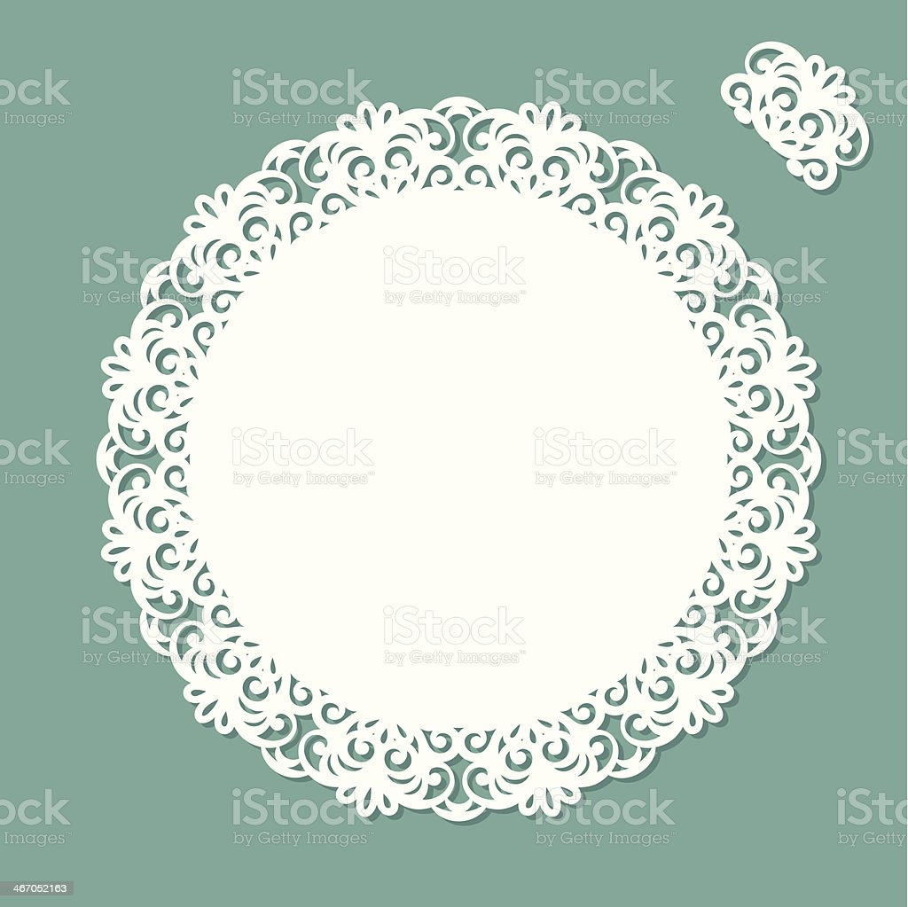 Doily with copy space royalty-free doily with copy space stock vector art & more images of antique