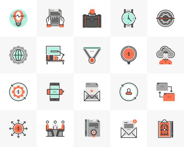 Doing Business Futuro Next Icons Pack vector art illustration