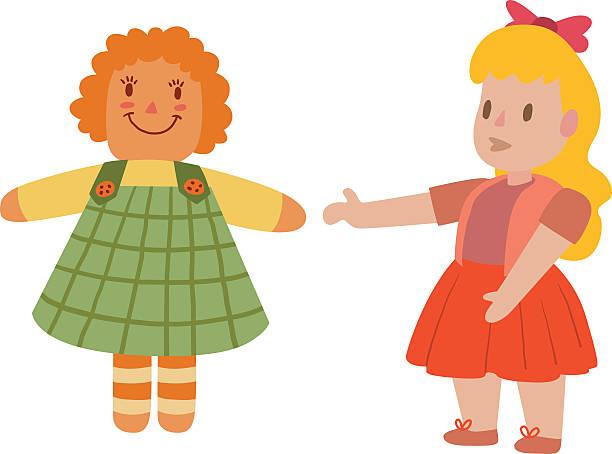 Girl Toys Clip Art : Royalty free doll clip art vector images illustrations