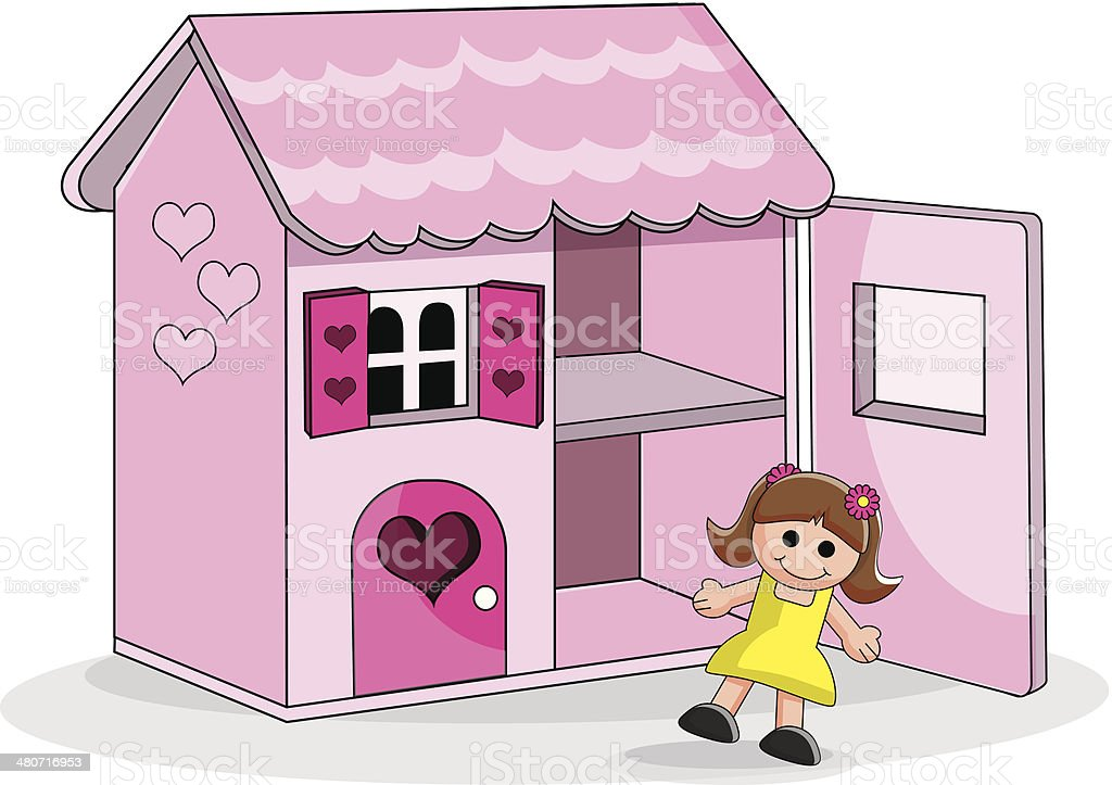 Doll House Stock Vector Art More Images Of Child 480716953 Istock