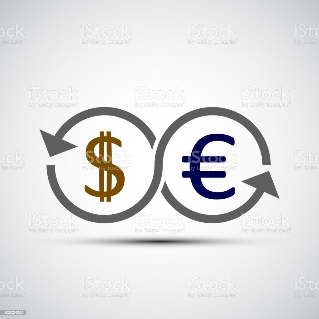 Dollar And Euro Currency Sign Stock Vector Art More Images Of