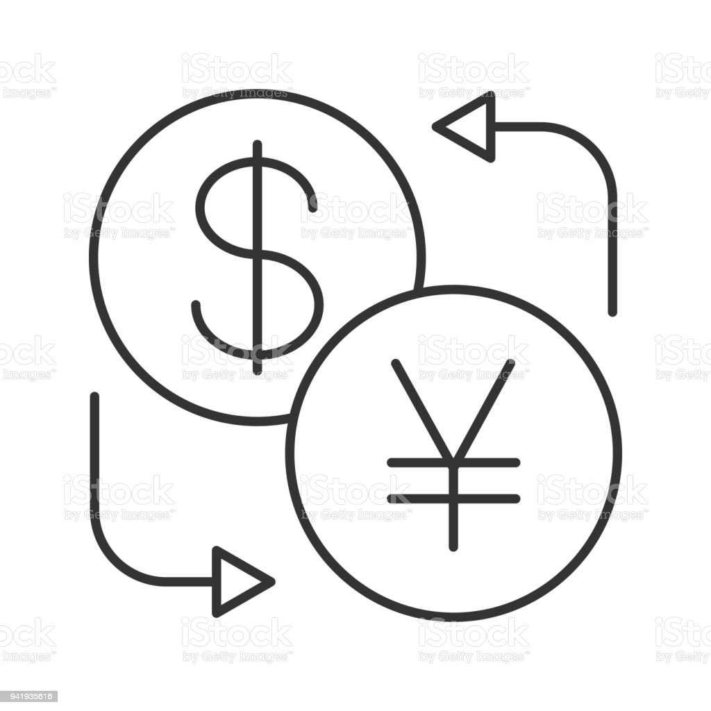 Dollar And Yen Currency Exchange Icon Stock Vector Art More Images