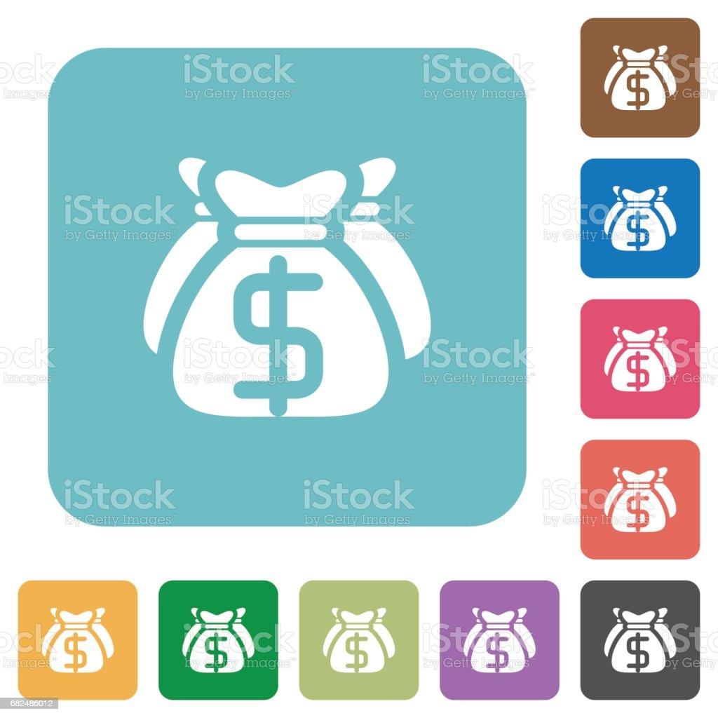 Dollar bags flat icons royalty-free dollar bags flat icons stok vektör sanatı & banka'nin daha fazla görseli