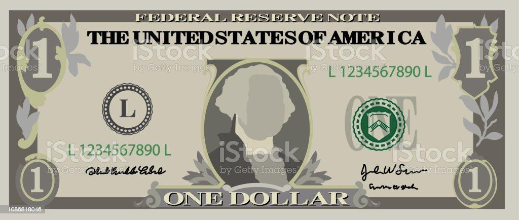 1美元鈔票 - 免版稅一美元鈔票圖庫向量圖形