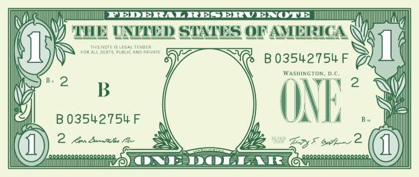 1 dollar banknote - dollar bill stock illustrations
