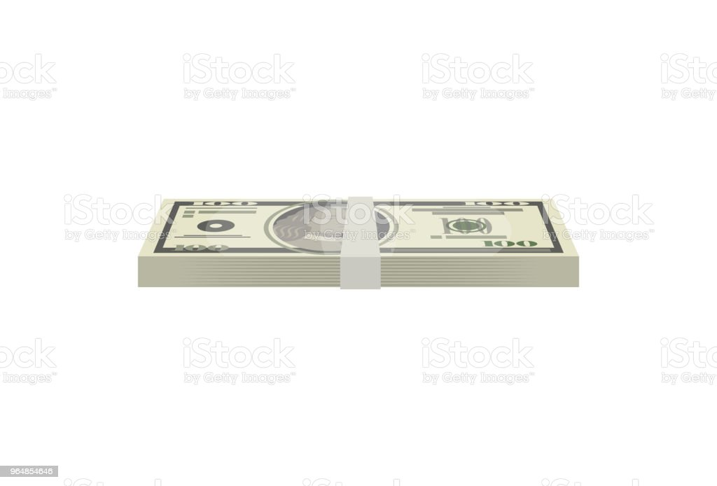Dollar banknotes bundle isolated isometric icon royalty-free dollar banknotes bundle isolated isometric icon stock vector art & more images of abundance