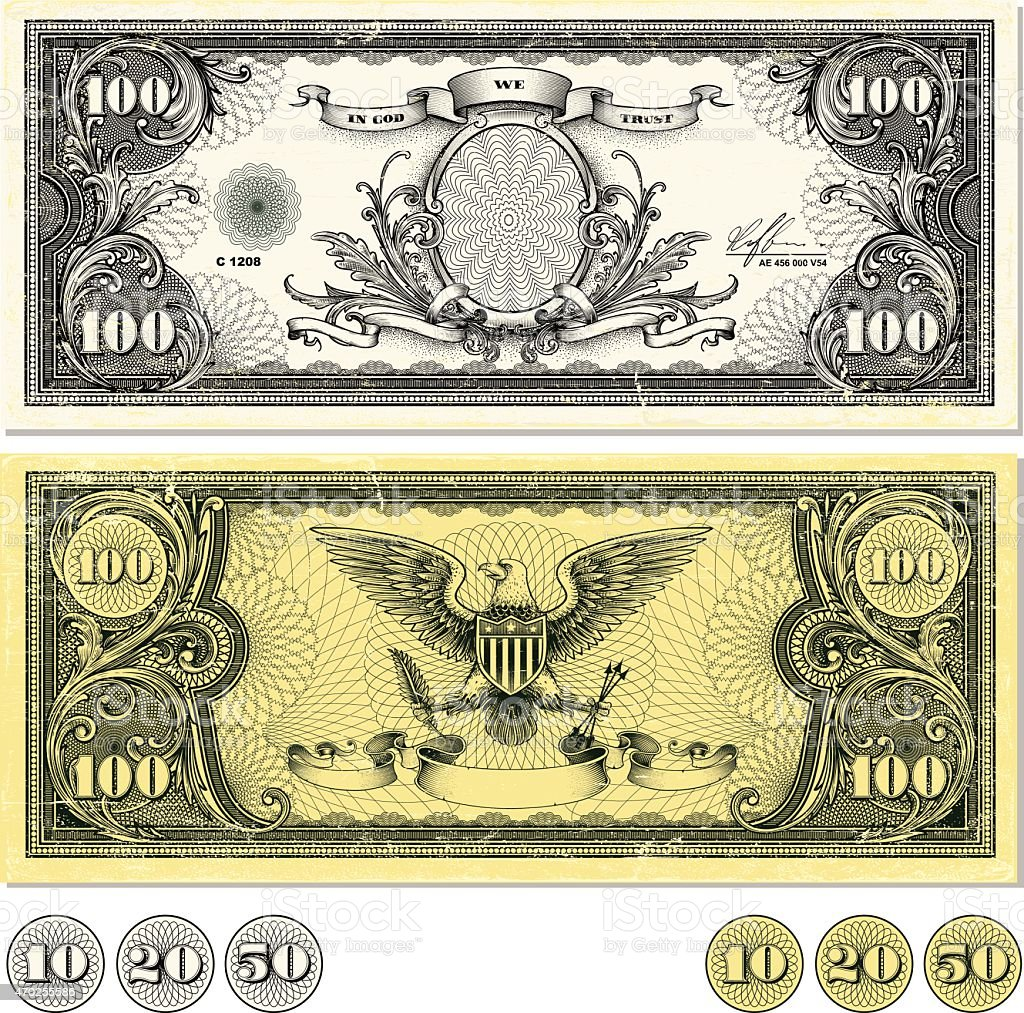 Dollar Bill Design vector art illustration