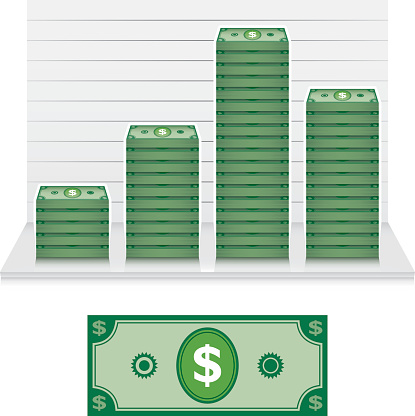 Dollar bill graph.