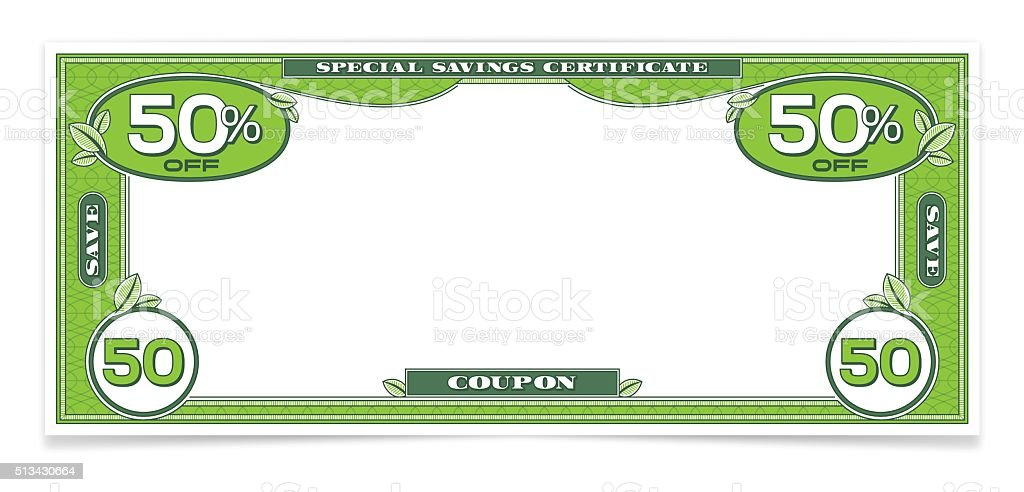 Dollar Bill Money Savings Coupon Stock Vector Art Amp More