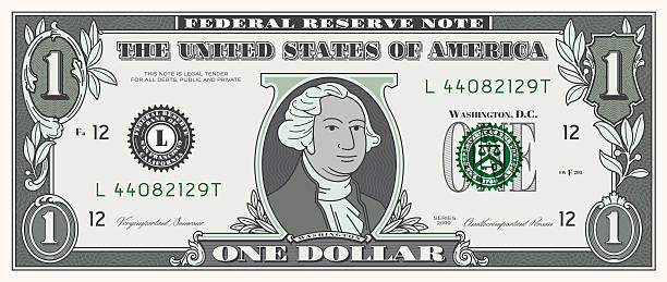 dollar bill one usd money currency - dollar bill stock illustrations