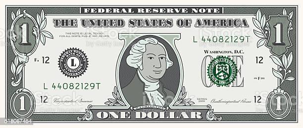 달러 지폐 한 구매가에 통화 원 금융에 대한 스톡 벡터 아트 및 기타 이미지