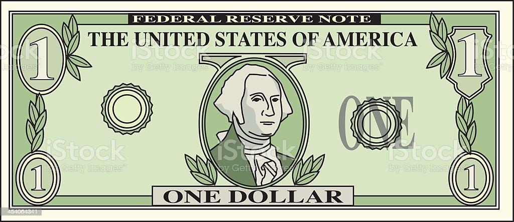 royalty free one dollar bill clip art vector images illustrations rh istockphoto com 20 dollar bill clipart dollar bill clipart images