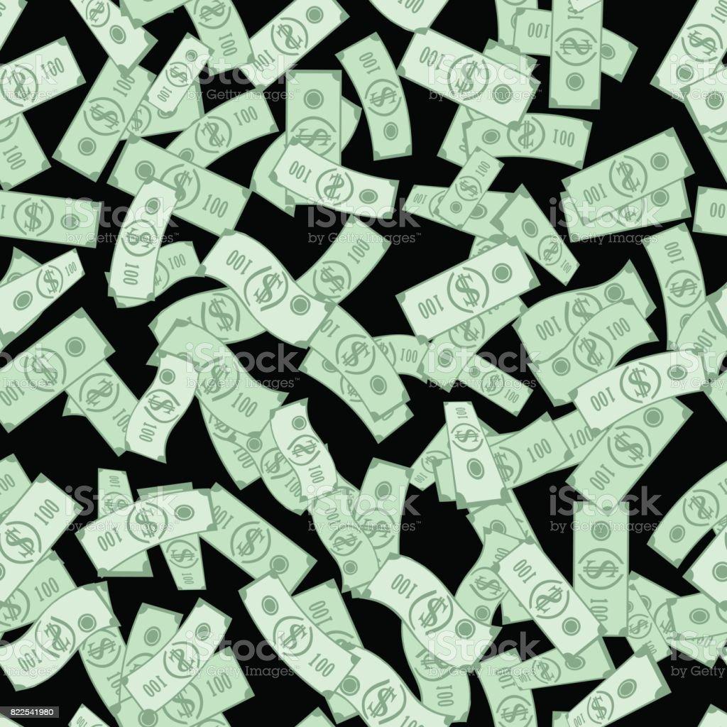 dollar bills pattern seamless background stock vector art more