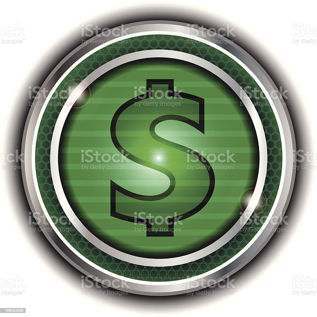 Dollar Button royalty-free stock vector art