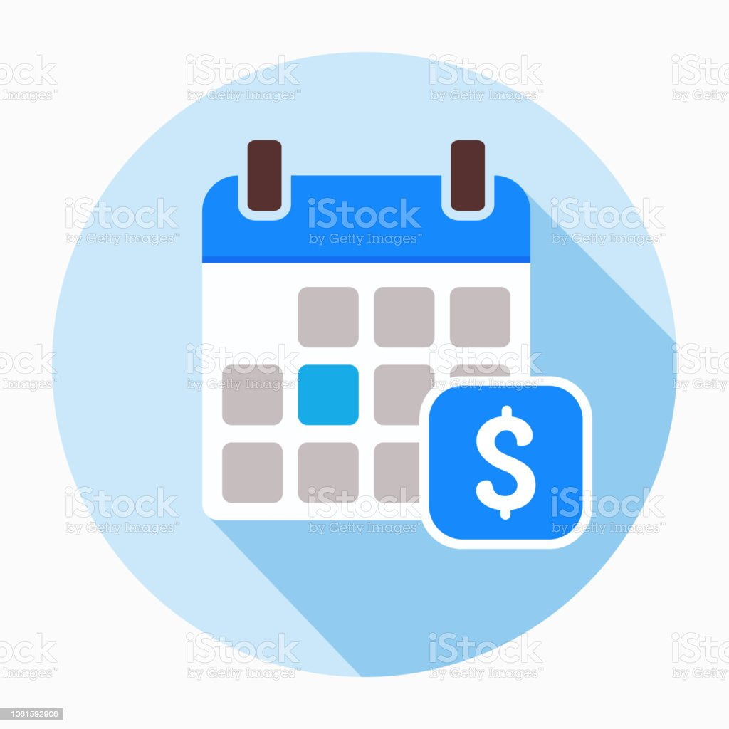 Dollar calendar day icon vector. vector art illustration