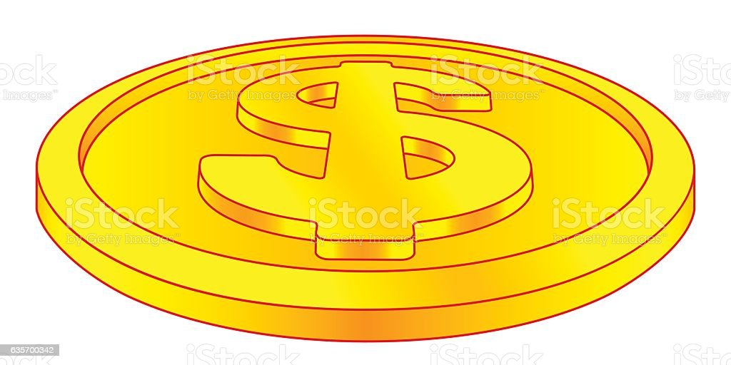 Dollar coin icon royalty-free dollar coin icon stock vector art & more images of business