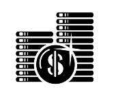US Dollar currency icon