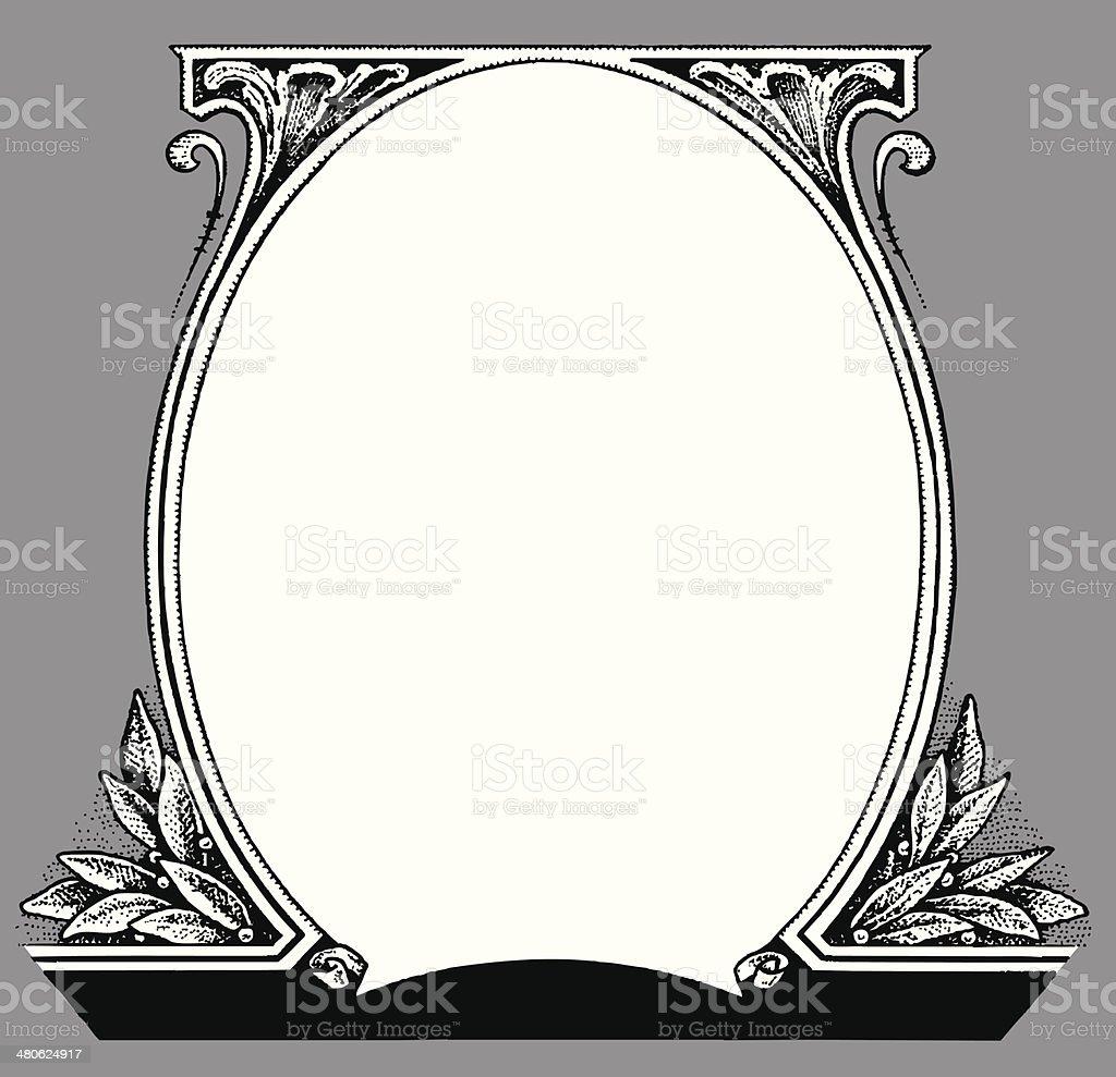 Dollar Frame vector art illustration