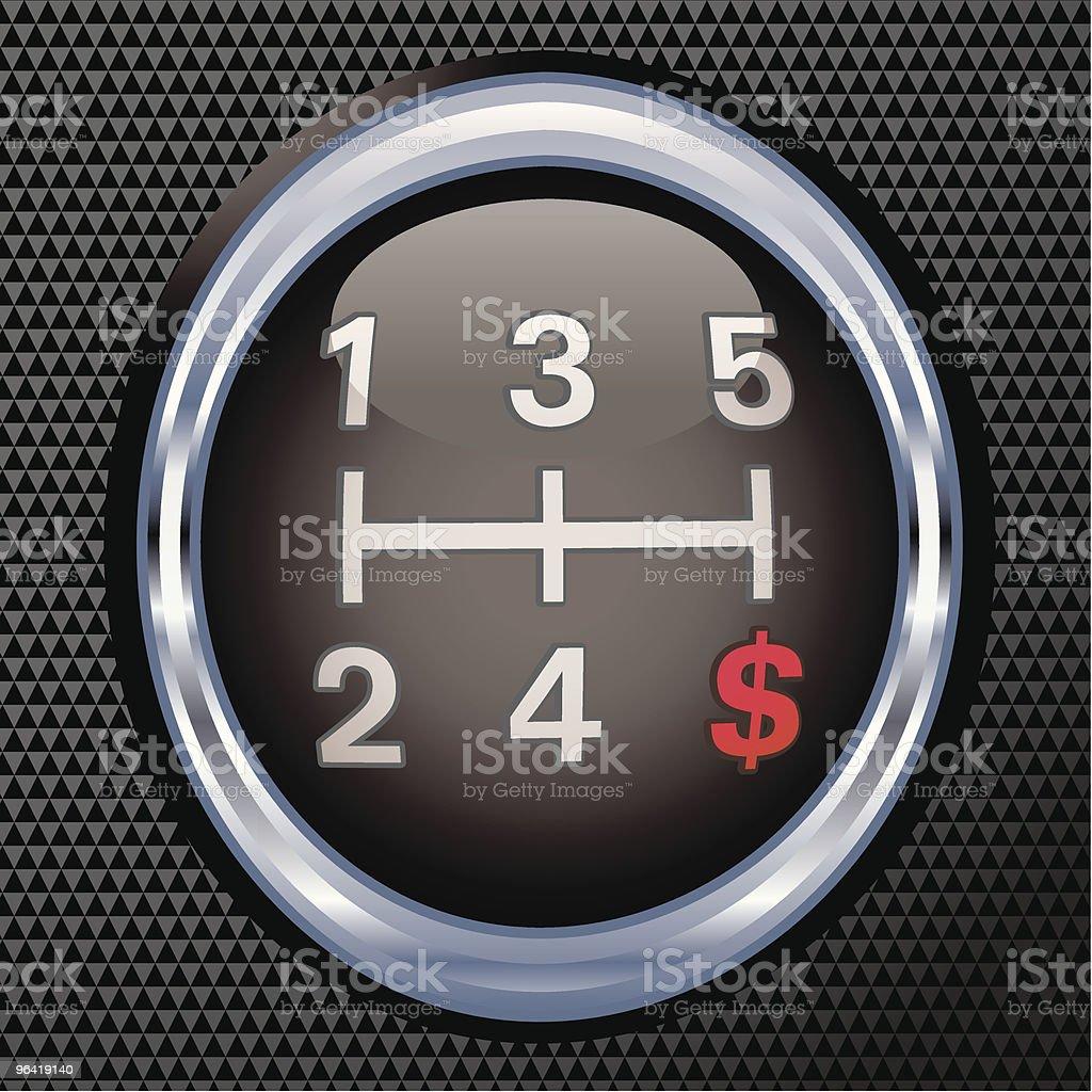 Dollar Gear Shift royalty-free stock vector art