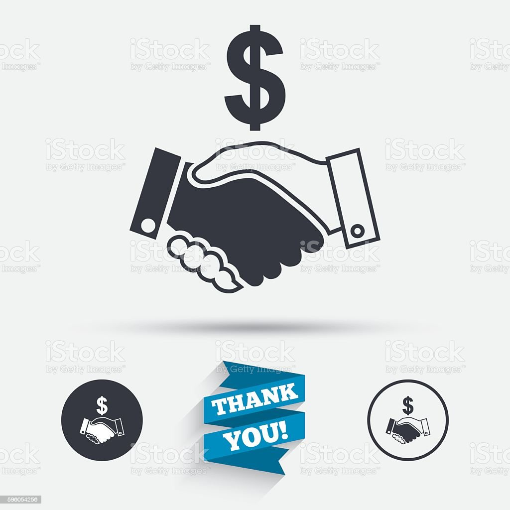 Dollar handshake sign icon. Successful business. royalty-free dollar handshake sign icon successful business stock vector art & more images of badge