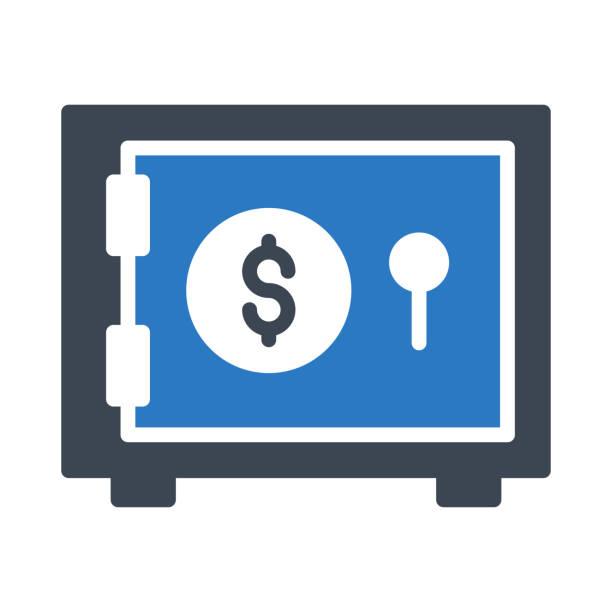 dollar locker - schließfachsachen stock-grafiken, -clipart, -cartoons und -symbole