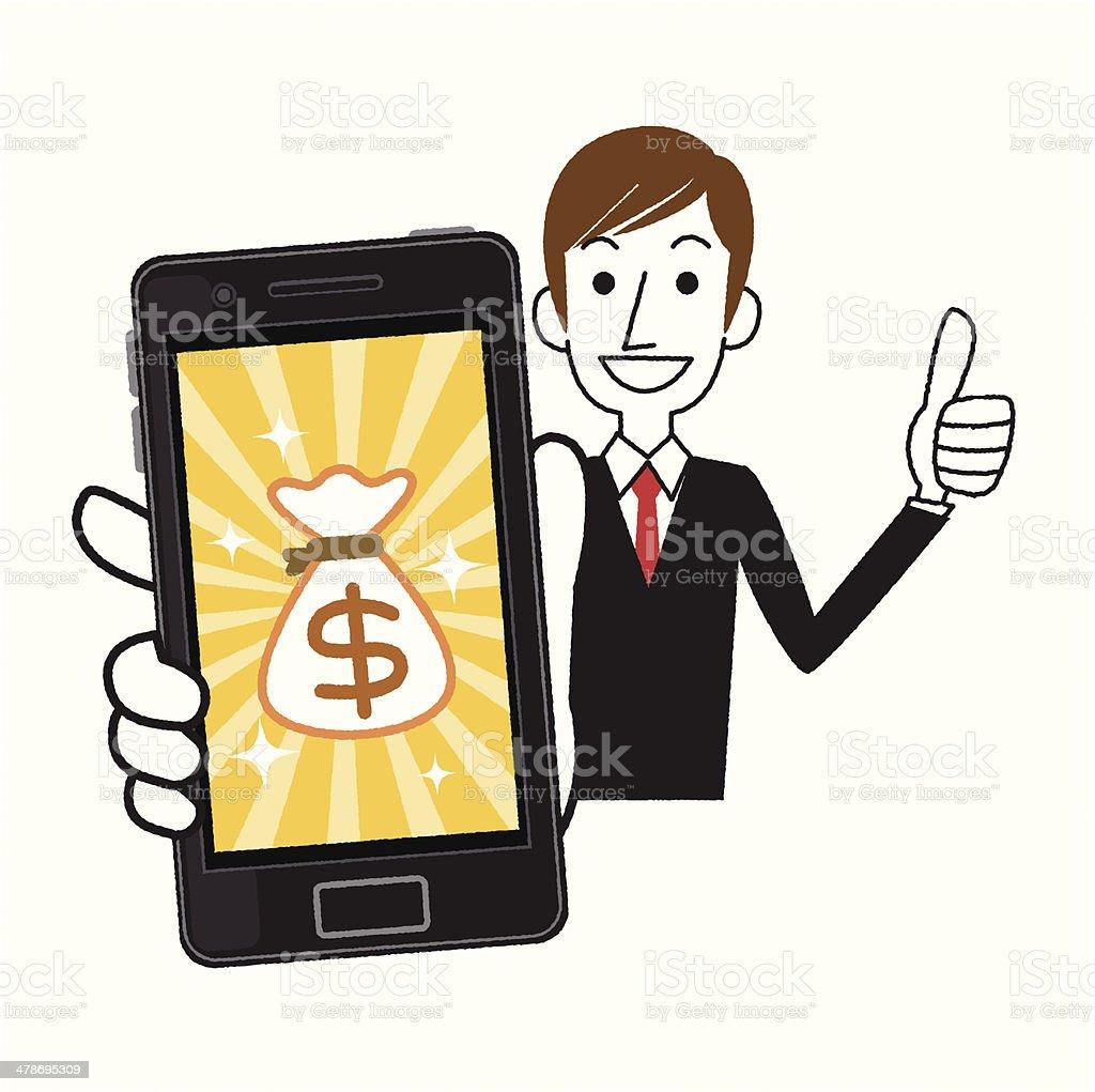 Dollar money phone royalty-free dollar money phone stock vector art & more images of achievement