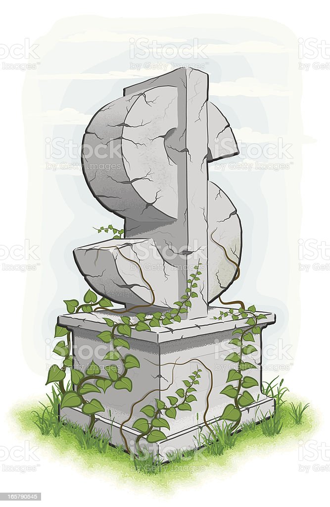 Dollar Monument vector art illustration