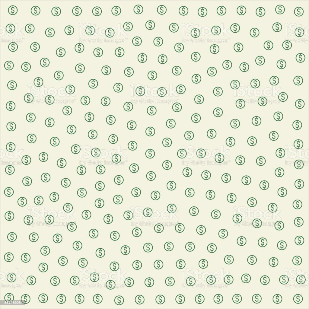 Dollar repeating pattern tile vector art illustration