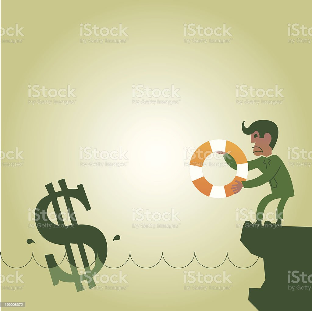 Dollar Saver royalty-free dollar saver stock vector art & more images of bailout