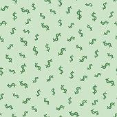 Dollar seamless pattern background. Vector illustration