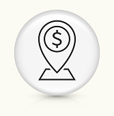 istock Dollar Sign ATM Bank Map Pointer Icon 1249500428
