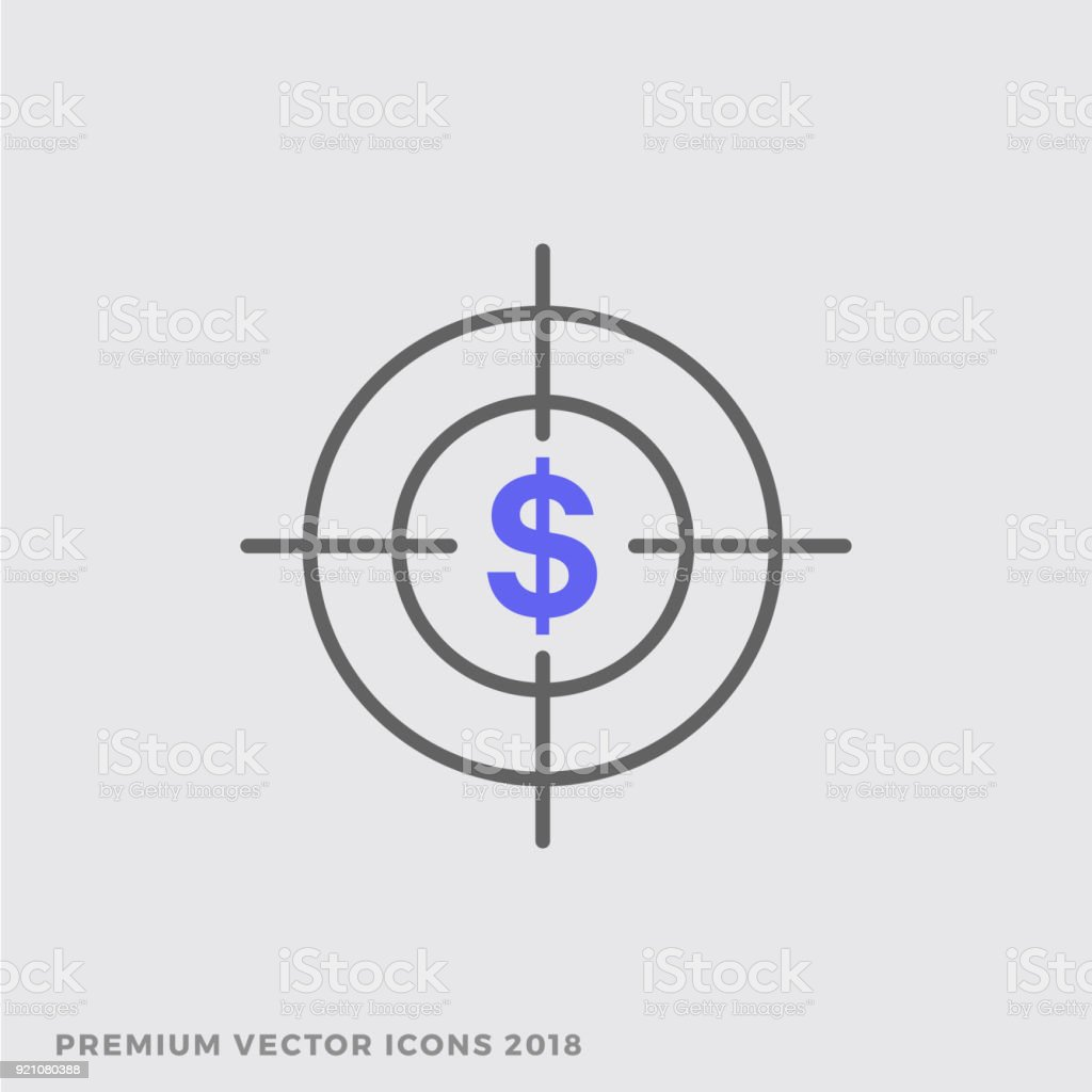 Dollar Sign Cross Section Targeting Customers Icon Goal And Success