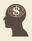Dollar sign head