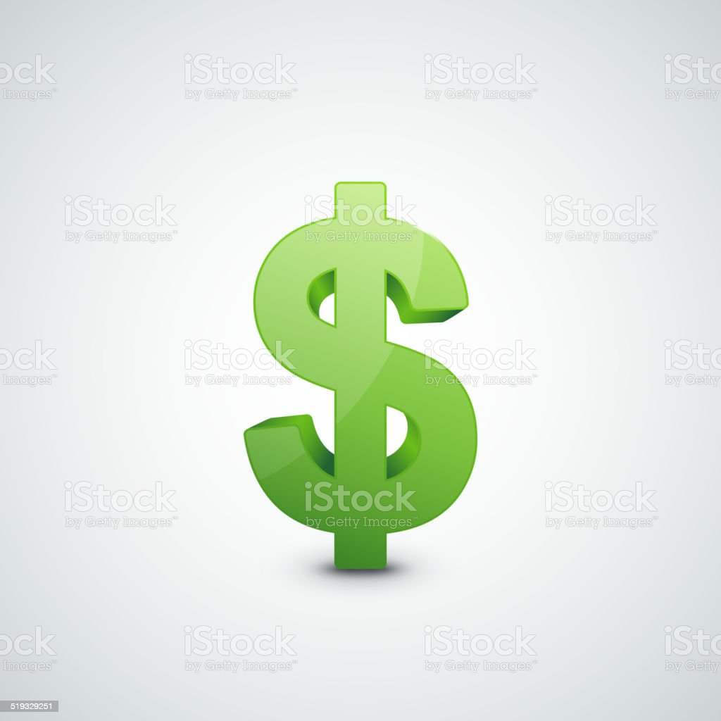 Dollar Sign Illustration vector art illustration