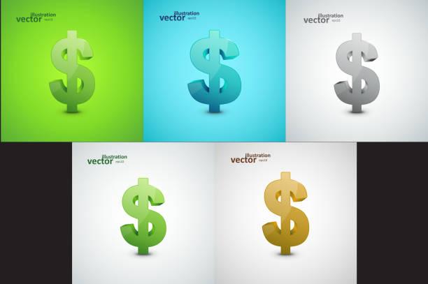 ilustrações, clipart, desenhos animados e ícones de símbolo do dólar ilustração - símbolo do dólar