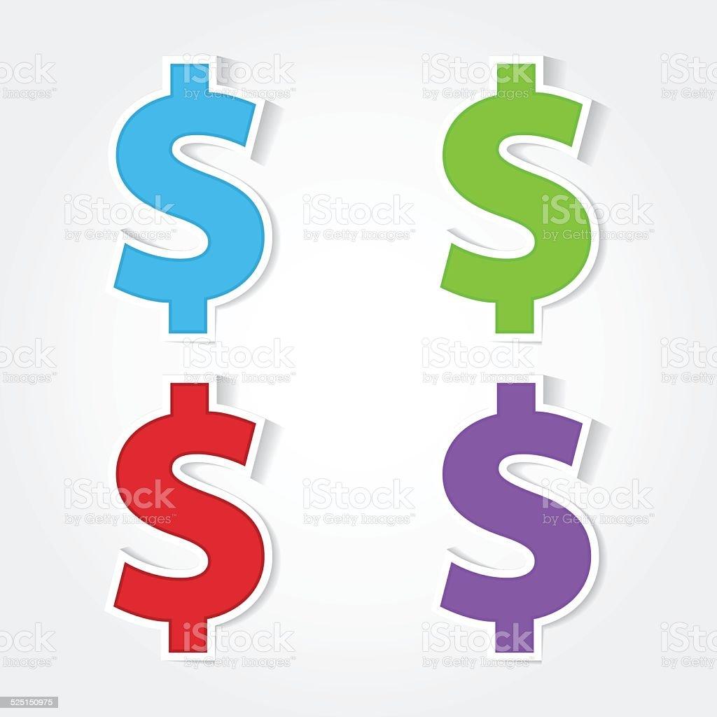Dollar Sign Vector Icon Design vector art illustration
