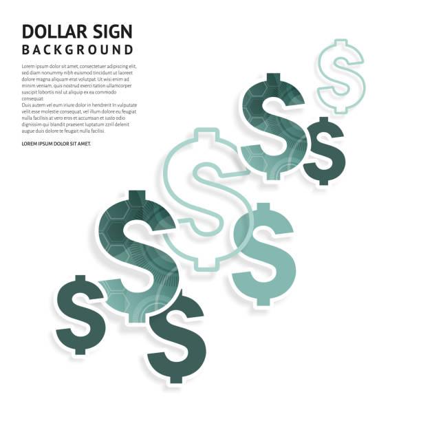 ドル記号をデザインします。アメリカの通貨は、白い背景の上に署名します。ベクトル。 - ドル記号点のイラスト素材/クリップアート素材/マンガ素材/アイコン素材