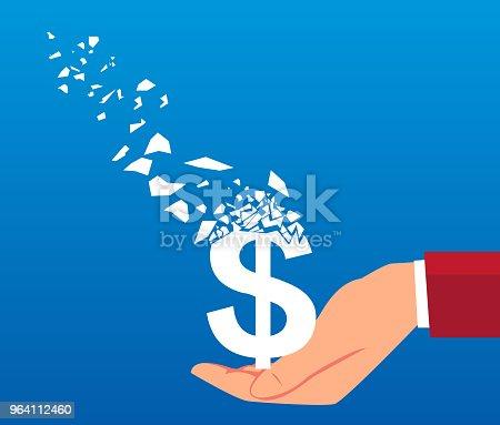 Dollar slowly vanished in businessman hands