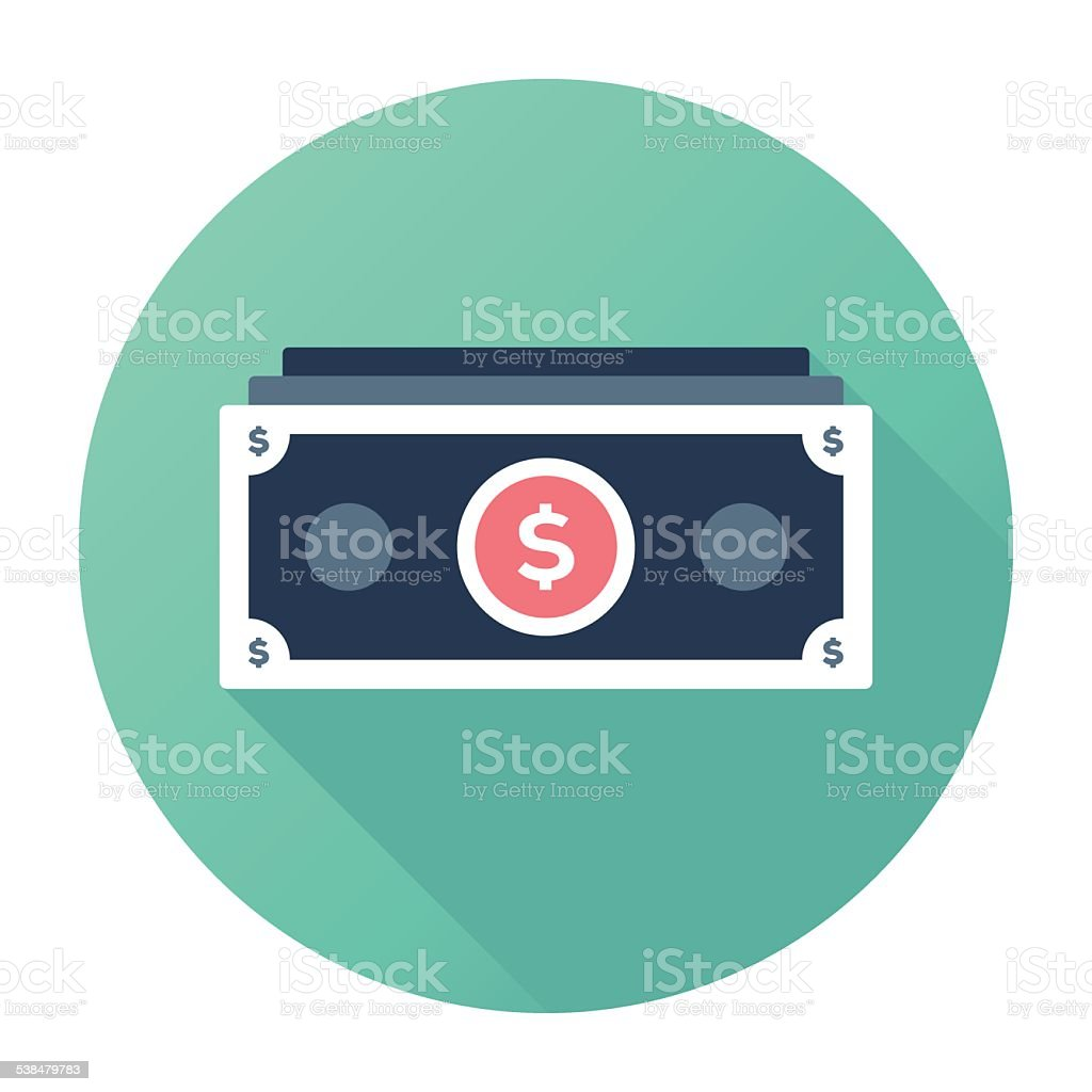 Dollar Stacks vector art illustration