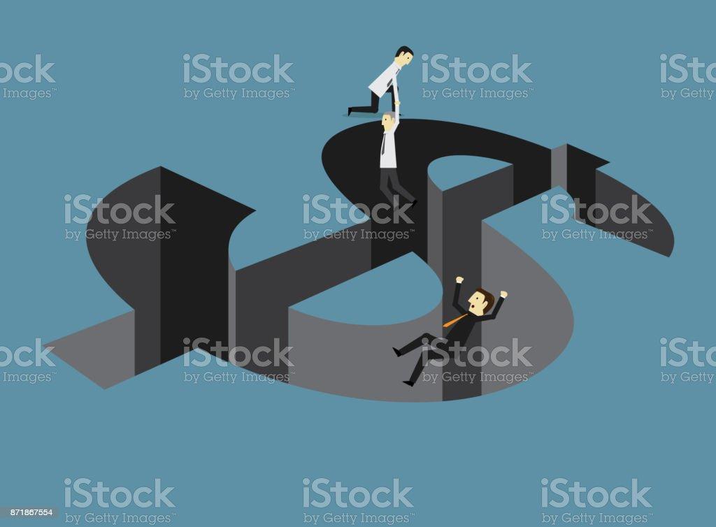 Dollar trap vector art illustration