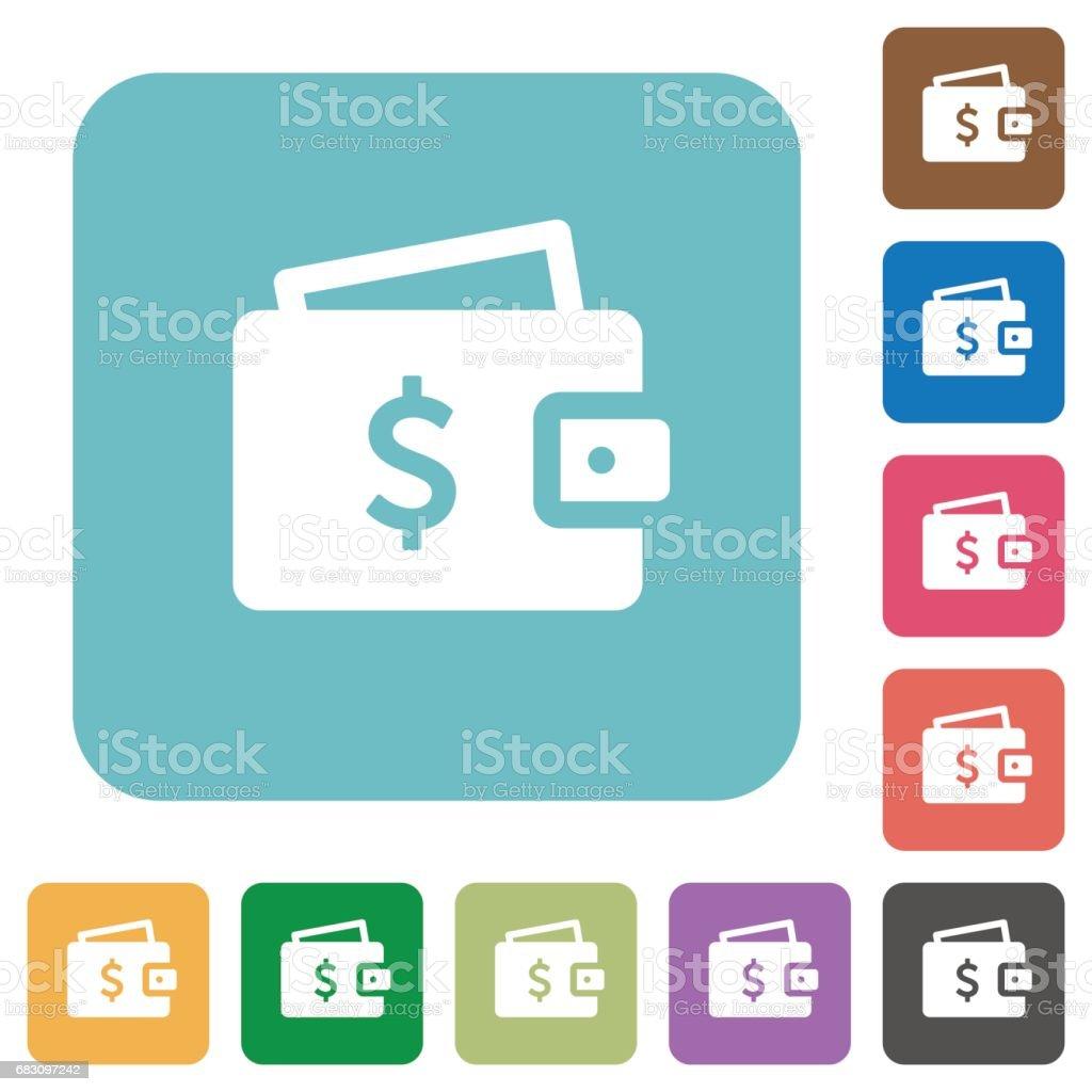 Dollar wallet flat icons dollar wallet flat icons - arte vetorial de stock e mais imagens de aplicar royalty-free
