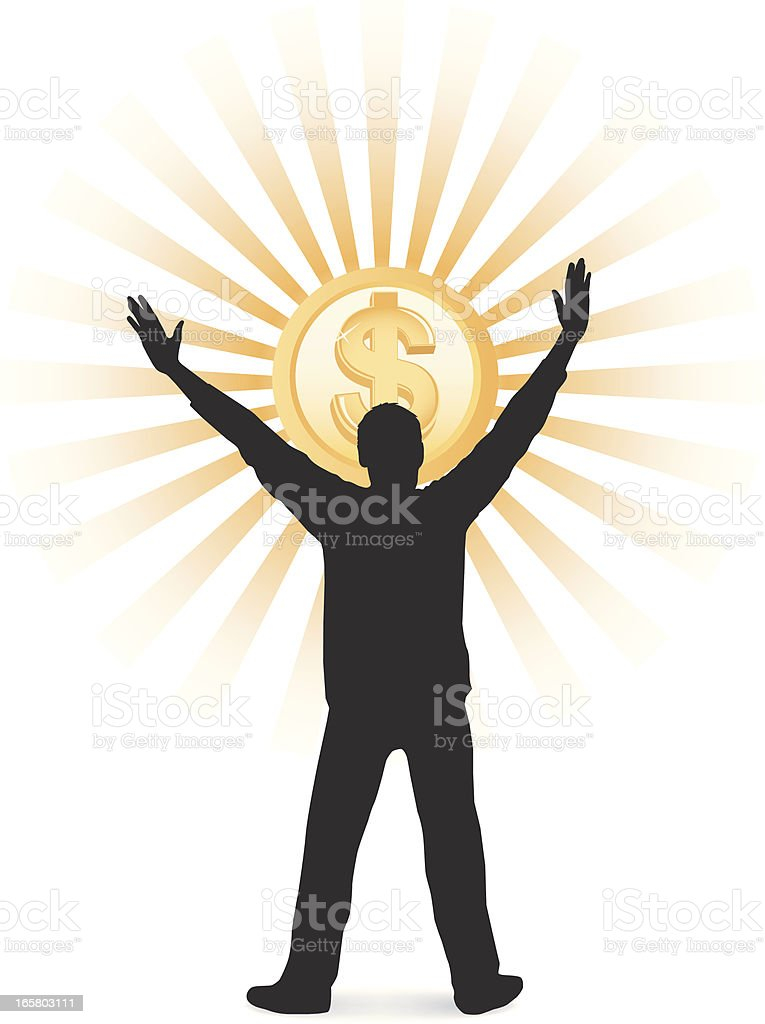Dollar Worship vector art illustration