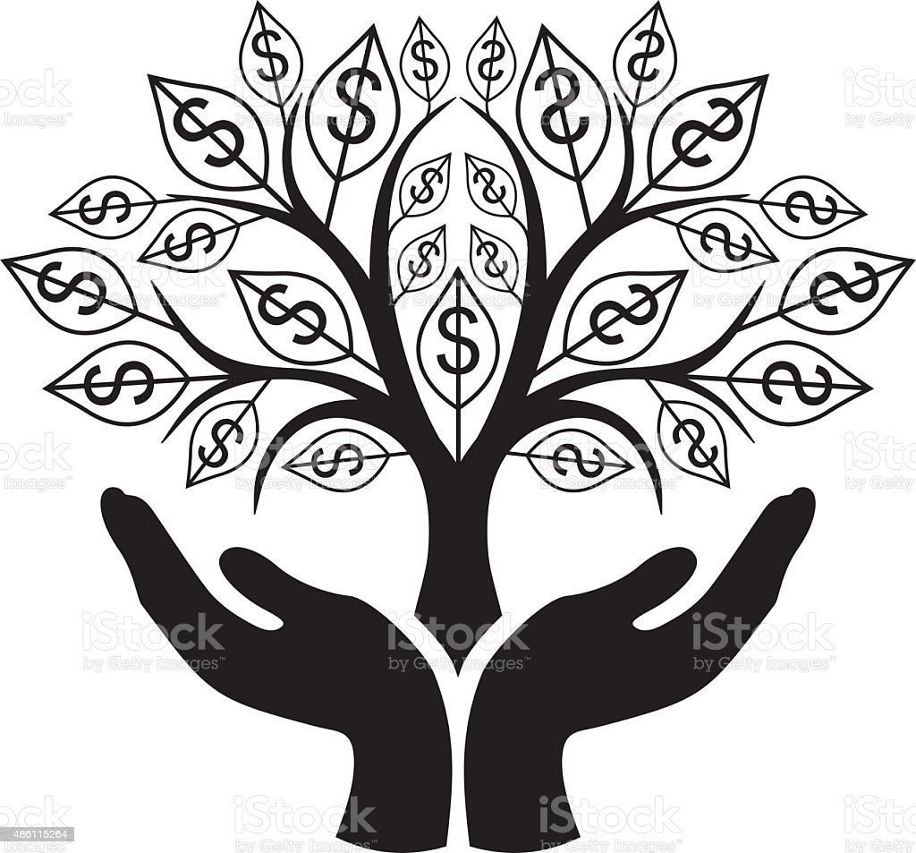 Dollar's tree vector art illustration