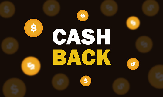 doller and text with cash back banner stock illustration